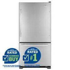 Whirlpool Gold 21.9 cu ft Bottom Freezer Refrigerator (Stainless) ENERGY STAR