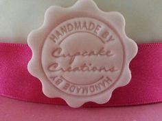 Fondant Sugarpaste Company Name Stamp For Cupcake Business