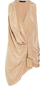 ALEXANDER WANG Draped washed-silk crepe de chine top $425