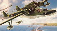 Blohm & Boss BV 138 Seedrache (Sea Dragon) or 'Der Fliegende Holzschuh' ('Flying Clog') by U. Leverenz (Revell box art)