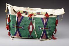 A SIOUX BEADED HIDE TIPI BAG. . c. 1890. ... American Indian | Lot #77088 | Heritage Auctions