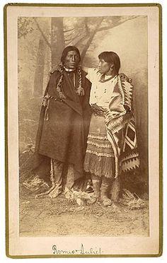 Jicarilla Apache couple - circa 1886