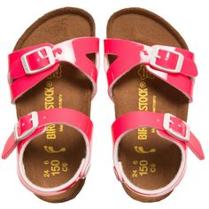 Birkenstock - Girls Neon Pink 'Rio' Sandals | Childrensalon