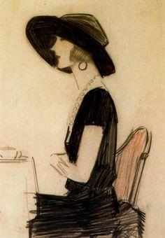 1922 cafe scene's Raphael de Penagos