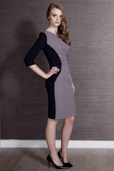 Wilder Dress Navy & Grey