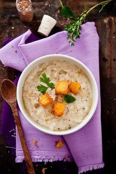 Roasted Vegetable Soup With Polenta Croutons:   www.tarteletteblo... eat