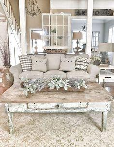 Cozy rustic farmhouse living room decor ideas (83)