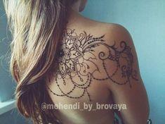 Mehendi_by_brovaya.Mehendi on the back.Mehendi on TV.- Mehendi_by_brovaya.Мехенди в Тв… Mehendi_by_brovaya. Mehendi on the back. Mehendi in Tver - Unique Tattoos, Cute Tattoos, Beautiful Tattoos, Body Art Tattoos, Tatoos, Lace Tattoo Design, Henna Tattoo Designs, Tattoo Designs For Women, Mandala Tattoo Sleeve Women