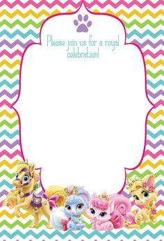 Palace Pets birthday party invitation