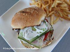 Les plats cuisinés de Esther B: Burger de poulet à la grecque