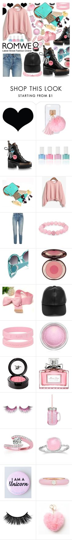 """ROMWE CONTEST -  ""PINK SWEATSHIRT"""" by anin-kutak ❤ liked on Polyvore featuring Ashlyn'd, Yves Saint Laurent, Palm Beach Jewelry, Marc by Marc Jacobs, Charlotte Tilbury, LULUS, MAC Cosmetics, Beauty Is Life, Christian Dior and MAKE UP FOR EVER"