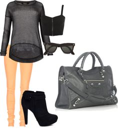 """""""one bright item always pops"""" by mammothmadi on Polyvore"""