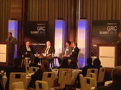 MetricStream GRC Summit 2013 at the Mandarin Oriental Hotel in Las Vegas – 'Succeeding with Partners', panel discussion in progress