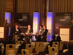 MetricStream GRC Summit 2013 at the Mandarin Oriental Hotel in Las Vegas – 'Succeeding with Partners', panel discussion in progress