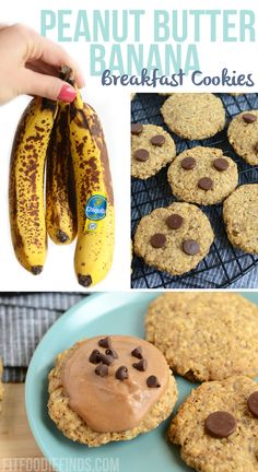 Peanut Butter Banana Breakfast Cookies- #vegan and #glutenfree! via @FitFoodieFinds/ #banana #breakfast #cookies #peanutbutter