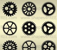 90 Photoshop Gears Shapes