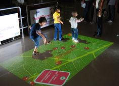 #Interactive Floor by #TouchMagix For #Kids Entertainment.
