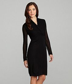Exclusively Misook Long-Sleeve Dress | Dillards.com