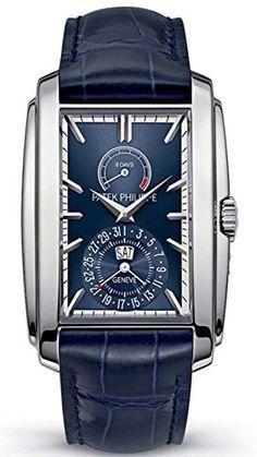 Patek Philippe Gondolo 8 Days Blue Dial White Gold Watch 5200G-001 http://ift.tt/2kVx0bM
