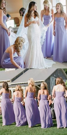 Lovely Sweetheart Floor Length Ruched Lavender Bridesmaid Dress