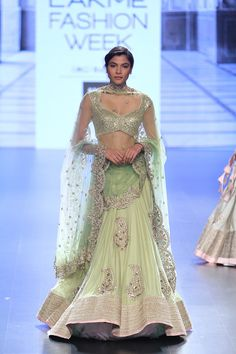 By designer Anushree Reddy. Shop for your wedding trousseau, with a personal shopper & stylist in India - Bridelan, visit our website www.bridelan.com #Bridelan #anushreereddy #lakmefashionweek