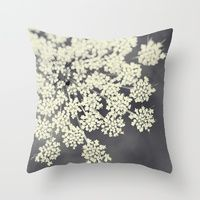Black and White Queen Annes Lace Throw Pillow by Erin Johnson - Cover x with pillow insert - Indoor Pillow Cushion Covers, Pillow Covers, Erin Johnson, Queen Annes Lace, White Queen, Down Pillows, Couch Pillows, Accent Pillows, Black Decor