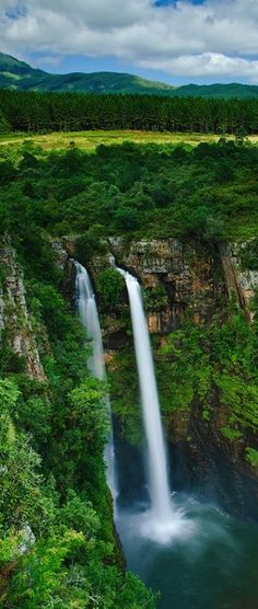 The Mac-Mac Falls is a waterfall on the Mac-Mac River in Mpumalanga, South Africa Places Around The World, Oh The Places You'll Go, Places To Travel, Around The Worlds, Travel Destinations, Beautiful Waterfalls, Beautiful Landscapes, Beau Site, Les Cascades