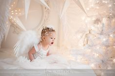 I dreamed up this shoot for my Christmas cards months ago. I designed and built the set, and got the amazing clothing from KokoBlush&Compa...