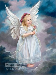 Angel - {By: Sandra Kuck - Artist} November * Mum - Angel Art Baby Engel, I Believe In Angels, Psy Art, Angels Among Us, Angel Pictures, Angels In Heaven, Guardian Angels, Angel Art, Illustrations
