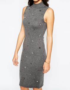 Image 3 of Warehouse Embellished Bodycon Dress