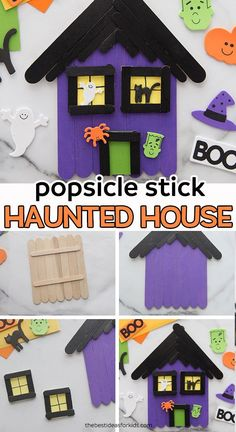 ️ - Halloween craft for kids! This popsicle stick haunted house craft is such a fun Halloween activity for kids. Kids will love painting and decorating these haunted houses! Halloween Activities For Kids, Halloween Crafts For Kids, Halloween Art, Holiday Crafts, Holiday Fun, Kids Crafts, Bricolage Halloween, Kids Diy, Toddler Crafts