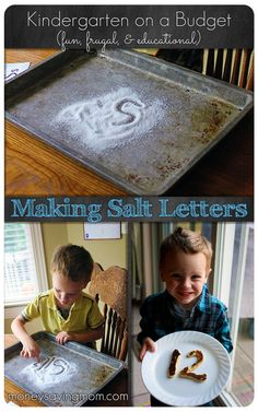 Kindergarten on a Budget: Making Salt Letters -- such a fun & frugal activity!