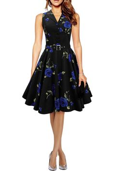 Black Butterfly 'Luna' Serenity Dress Retro 50s: Amazon.es: Clothing & Accessories