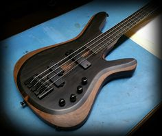 Kiesel Guitars Carvin Guitars (Vanquish series) Ebony top on walnut body in a tung oil finish Tung Oil Finish, Kiesel, Bass, Guitars, Porn, Musica, Guitar, Lowes, Double Bass
