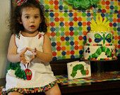 Items similar to Fabric Bunting Banner - Made with Very Hungry Caterpillar Fabrics - TREASURY FEATURED on Etsy. , via Etsy.