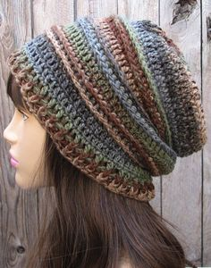crochet pattern - slouchy hat: