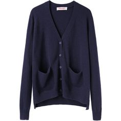 Organic by John Patrick Perfect Cardigan ($163) ❤ liked on Polyvore featuring tops, cardigans, outerwear, sweaters, jackets, long sleeve cardigan, navy top, navy cardigan, button front tops and navy blue long sleeve top