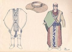 Esher costume concept art, from Myst V: End of Ages