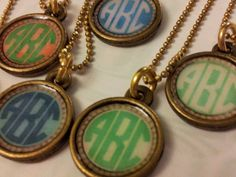 Custom Monogram Pendant. your choice of color. by {Houndstooth and Nail} $16