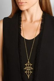 Symbiotic Sphere gold-plated necklace