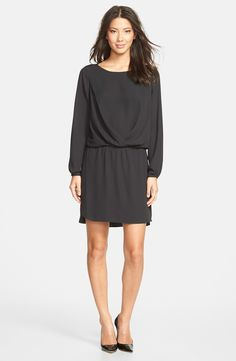 Pleat Detail Blouson Dress / Vince Camuto @nordstrom #nordstom - fall dress
