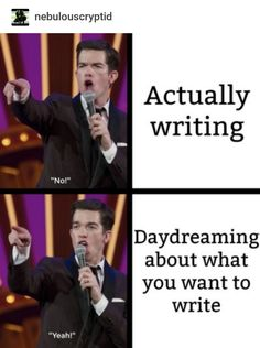 Top Funny Quotes trip-and-stumble:So I've been making John Mulaney memes Writing Quotes, Writing A Book, Writing Tips, Writing Prompts, Writing Software, Start Writing, Writer Memes, Writing Problems, All Meme