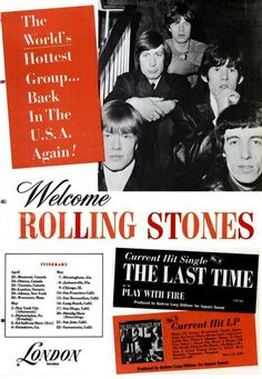 Rolling Stones  - The Last Time and Now LP ad by London Records USA
