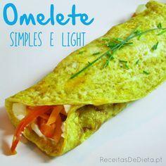 Receitas de Dieta: Omelete Simples e Light