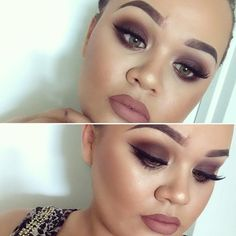 2nd Valentines Look  Brown Smokey Eye Winged Liner and a Nude lip  Simple easy to recreate AND suits everyone  #makeupwithjah by makeupwithjah #wingedlinerlooks