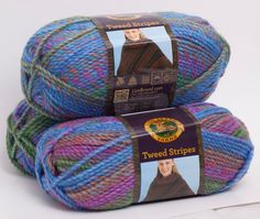 Lion Brand Tweed Stripes Prism by WritingPlaces on Etsy, $5.28