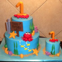 under the sea cakes for children | Under the Sea 1st Birthday! — Children's Birthday Cakes