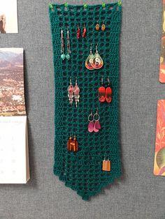 Mother Nature earring hanger - would make a pretty scarf too!  . . . .   ღTrish W ~ http://www.pinterest.com/trishw/  . . . .    #filet #crochet
