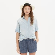 Chambray Courier Shirt : chambray & denim | Madewell