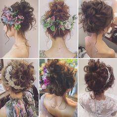 ブライダルで俄然人気のお団子☺️ #プレ花嫁 #ブライダルヘアメイク #ウェディングドレス #ウェディング Dress Hairstyles, Bride Hairstyles, Bridal Tiara, Bridal Headpieces, Curly Hair Problems, Bridal Hair Inspiration, Hairdo Wedding, Hair Arrange, Floral Hair
